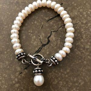 Honora Freshwater Pearl Toggle Bracelet.